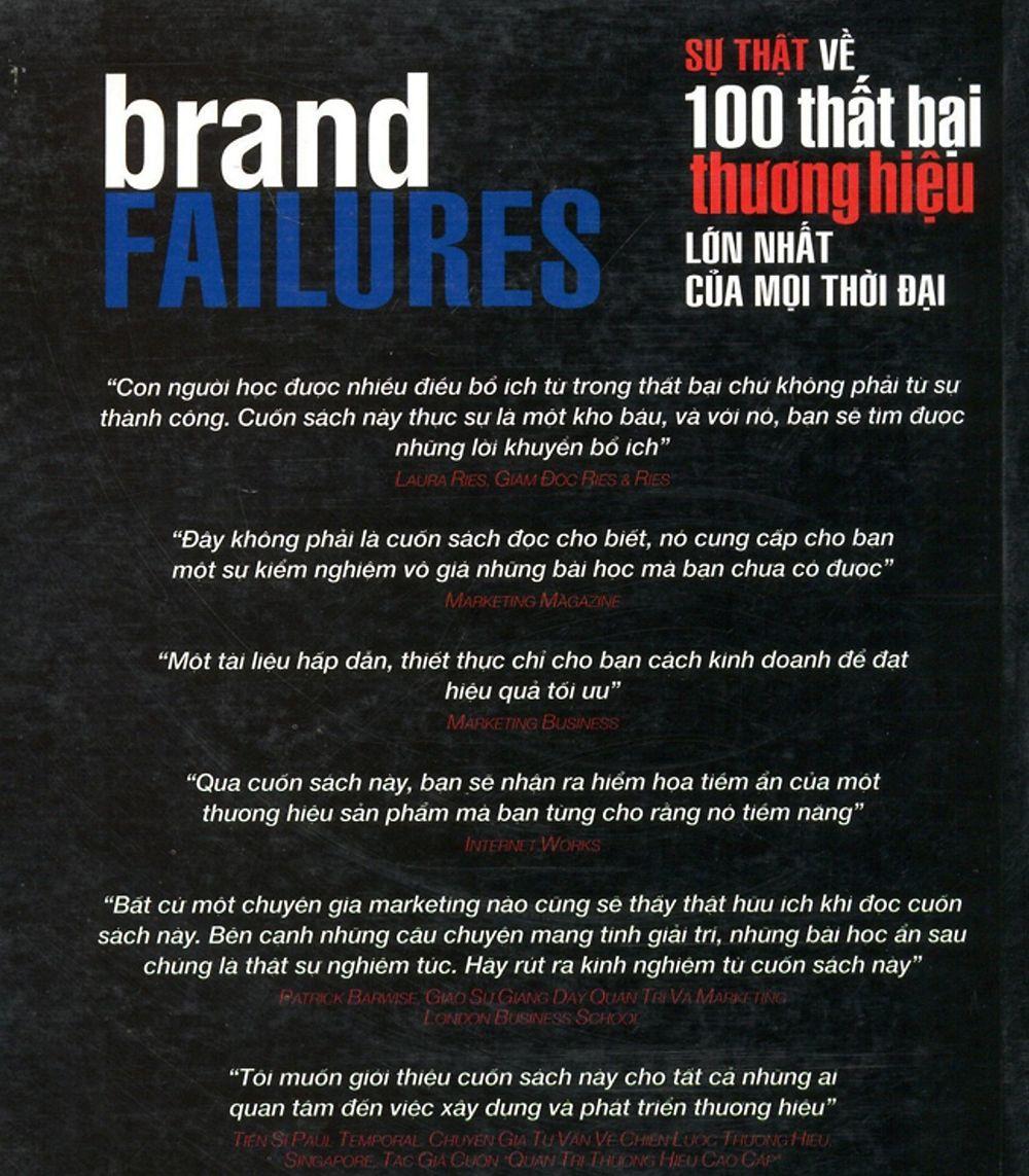 Sự thật về 100 thất bại thương hiệu bạn nên đọc