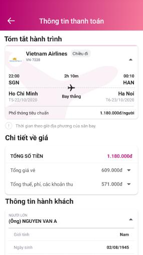 Đặt vé máy bay trực tuyến với vài thao tác đơn giản và tiện lợi