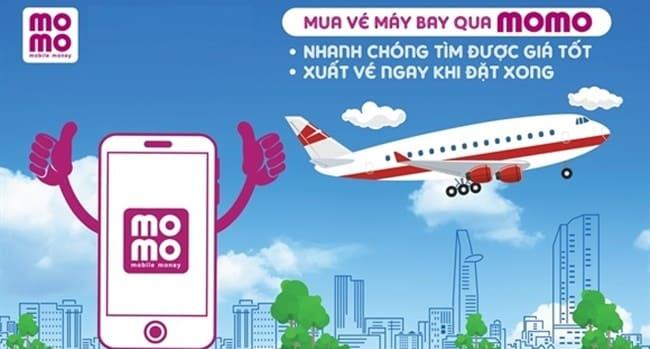 MoMo cung cấp dịch vụ đặt vé máy bay trực tuyến nhanh chóng và chất lượng