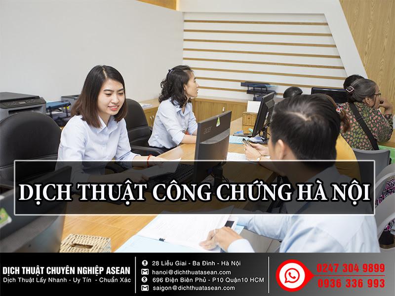 dịch thuật công chứng tại Hà Nội