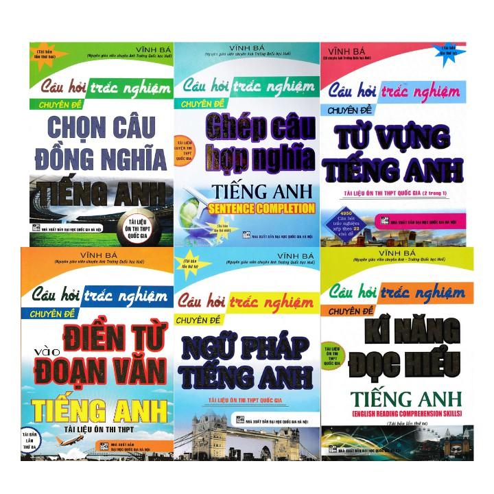 Sách Combo Câu Hỏi Trắc Nghiệm Tiếng Anh - Vĩnh Bá (Bộ 6 Cuốn) | Shopee  Việt Nam